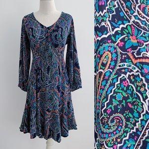 Anthro Maeve Paisley Dress